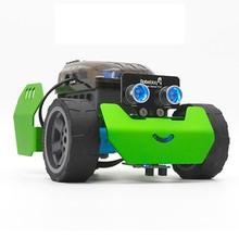 Robobloq Q-scout DIY Wireless Smart RC Robot Car Programmable Infrared Obstacle Avoidance Bluetooth Phone Control Robot Car Kit(China)