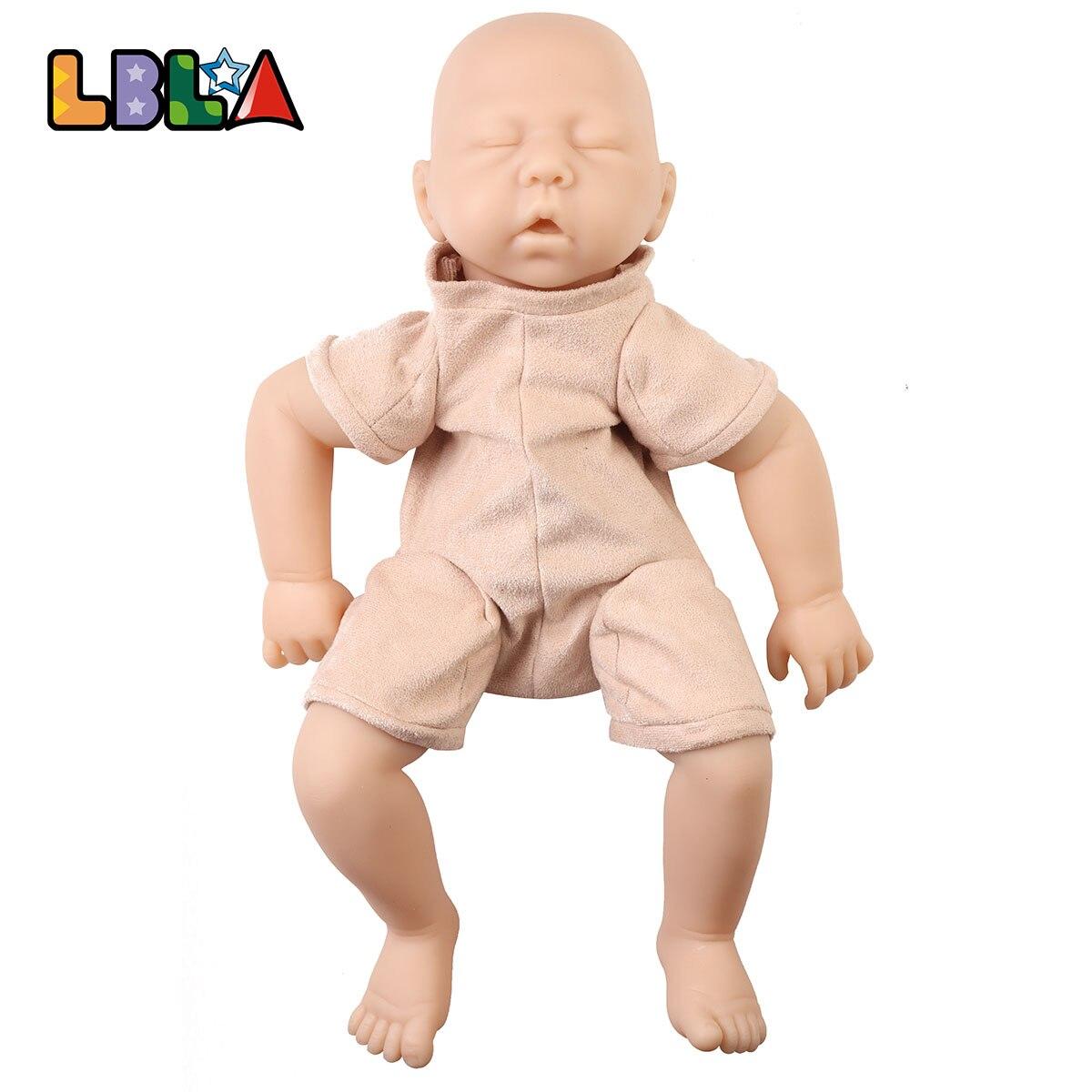 "Unpainted 20/"" Reborn Limb /& Cloth Body Kit Silicone Sleep Baby Doll Mold DIY"