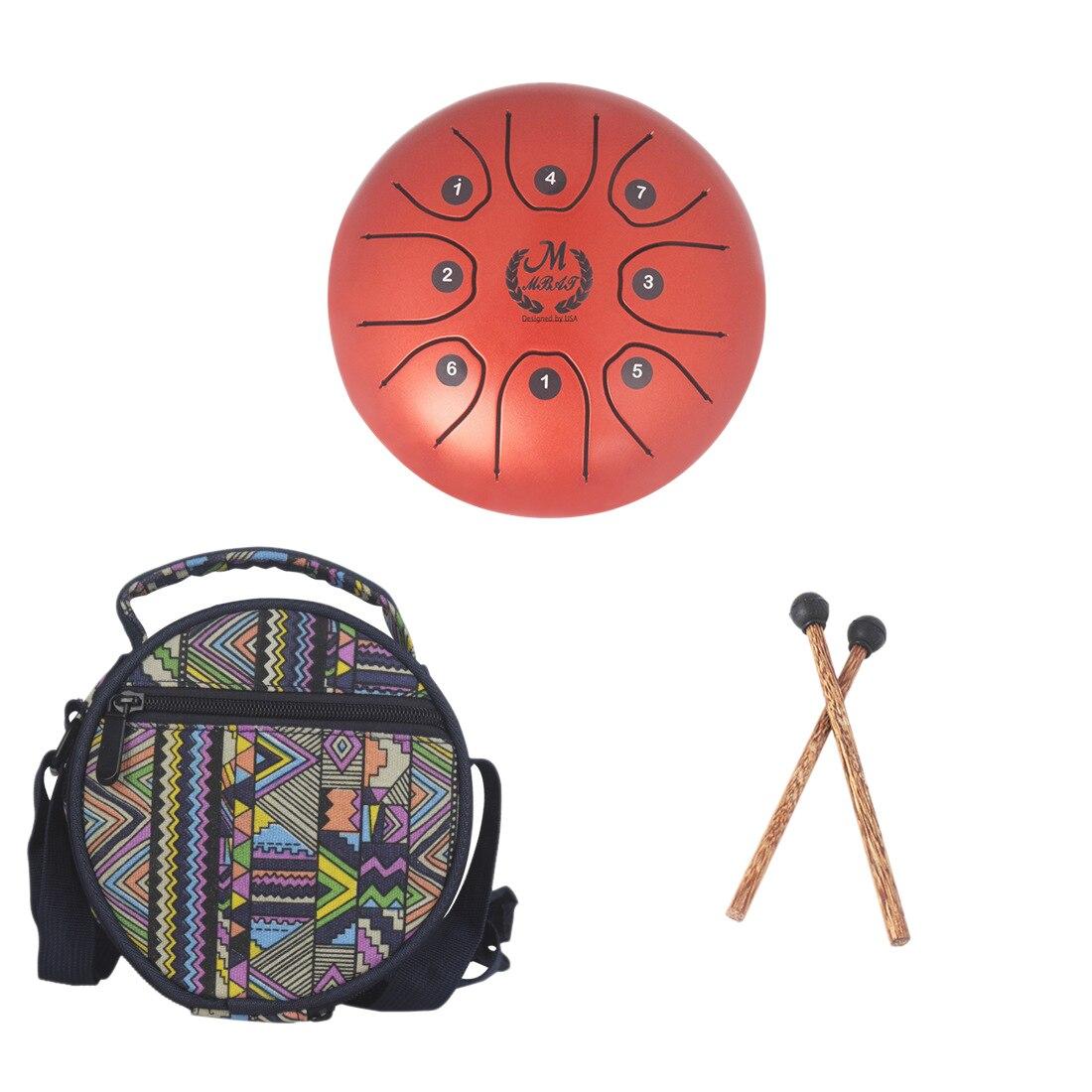 10-pouces 11 Ton Langue Tambour Handpan Tambour tambour à main Percussion Jouet Musical Instrument Éducation Précoce Cadeau Enfants-Foncé brun