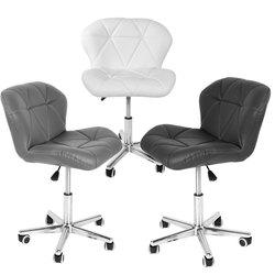 Panana Sedia Da Ufficio Faux di Cuoio Imbottito Sedile Girevole da 360 gradi di Rotazione Flessibile di Studio A Casa Camera Da Letto di Trucco Dei Posti A Sedere sedia