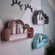 New Arrivals Nordic Style Wrought Iron Wall Decoration Racks Cloud Hanging Home Crafts Photography Props Best