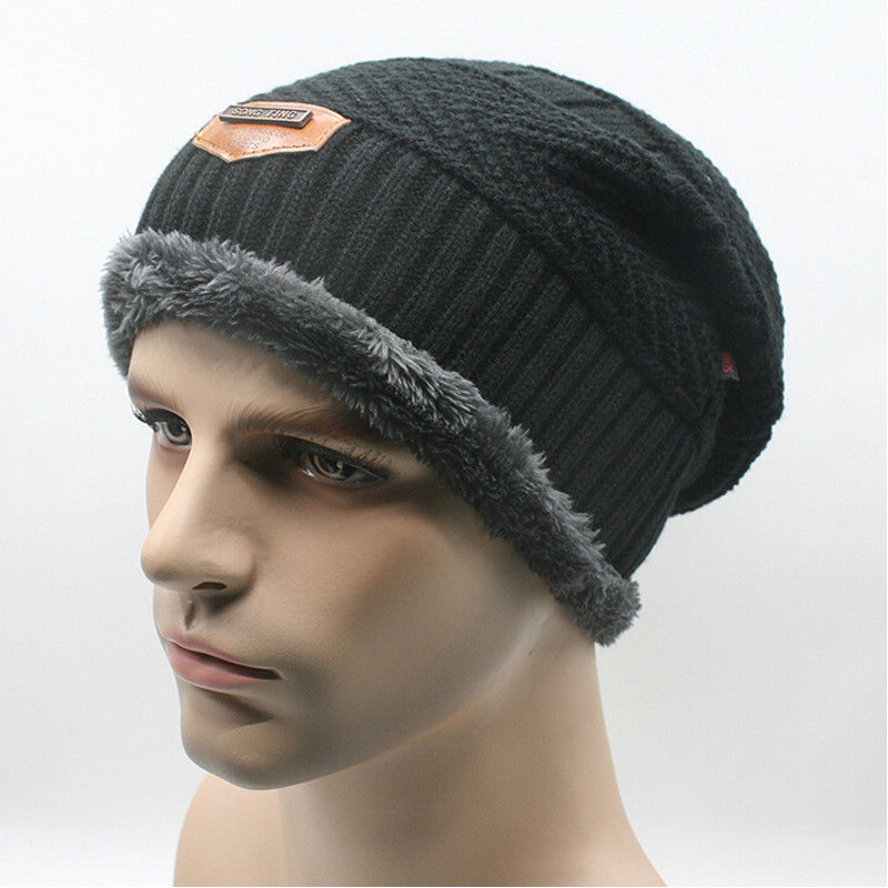 2018 New Style Fashion Hedging Cap Slouchy Autumn Warm Keeping Knitting Patchwork Warmer Hat Hot Cap
