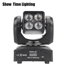 4pcs 10W RGBW 4 IN 1 Led moving head light adjust degree Beam&zoom function professional stage KTV DJ Party lite