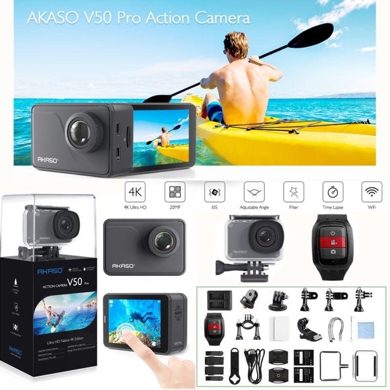 Оригинальный Akaso V50 Pro Ultra HD 4 K 20MP Wi-Fi действие Kamera mit Eis Сенсорный экран Действие Спорт Подводные видеокамеры