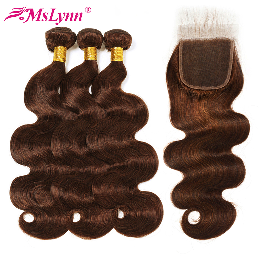 Body Wave Bundles With Closure Brazilian Hair Weave Bundles Human Hair Bundles With Closure Non Remy