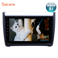Seicane 9 Inch 2Din Android 8.1 GPS Head Unit Bluetooth Car Radio For VW Volkswagen Polo 2012 2013 2014 2015 support DVR 1080P