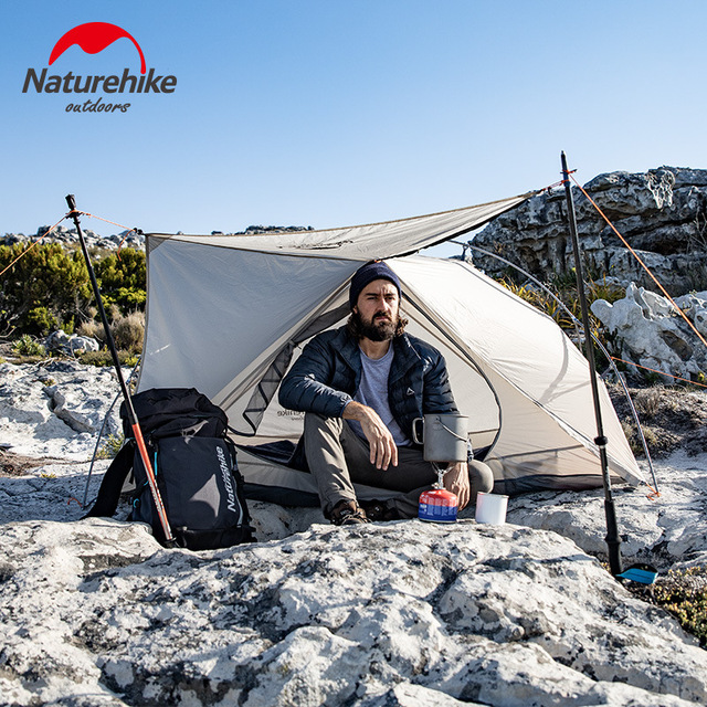 Naturehike 2019 New Arrive Vik Series Ultralight Waterproof White Outdoor Camping Tent For 1 Person Tent 2