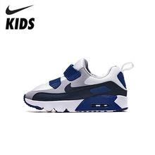 16fd5a8a2d Nike Air Max 90 niños zapatos originales niños primavera y otoño aire cojín  zapatillas cómodas #881927-003