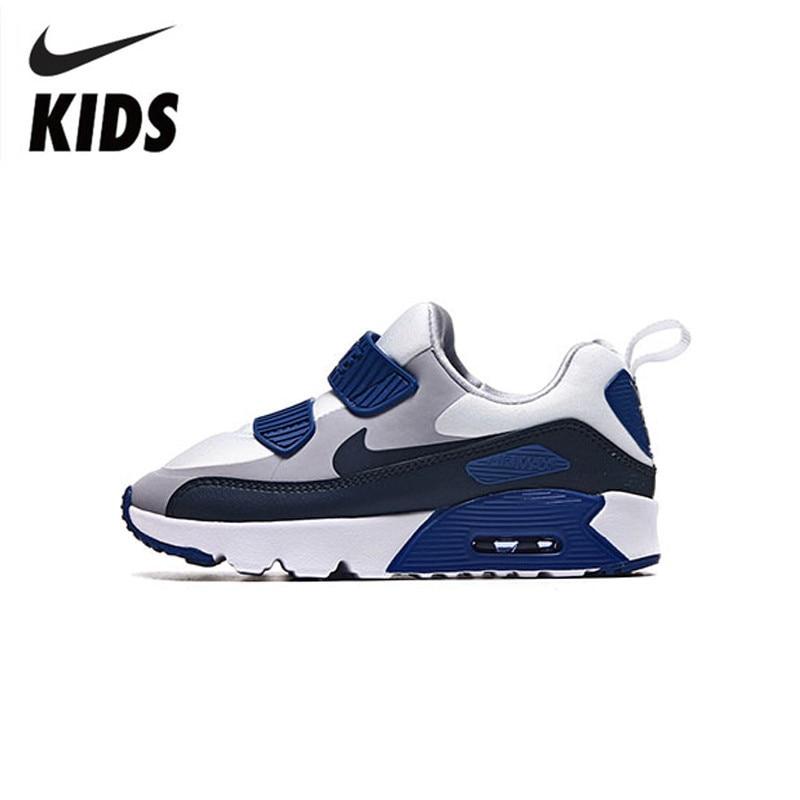 Nike Air Max 90 enfants chaussures originales enfants printemps et automne coussin d'air baskets confortables #881927-003