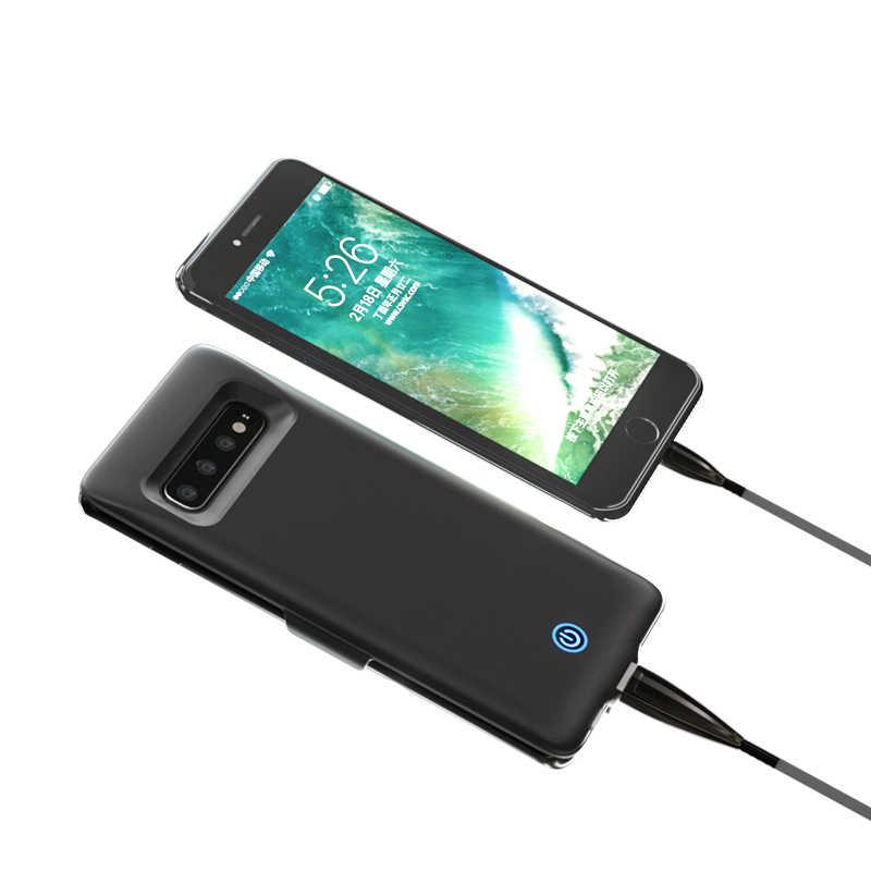 Продвижение ультра тонкий 7000 мАч Расширенный Батарея Зарядное устройство чехол для samsung Galaxy S10 плюс S10e Lite Мощность Bank зарядное устройство чехол