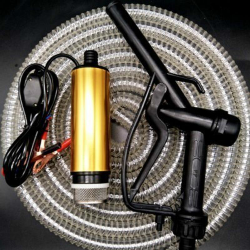 Livraison gratuite pompe à huile Diesel 12 V pistolet à carburant 5 m tuyau électrique petite pompe auto-aspirante pistolet pompe à huile pompe à huile
