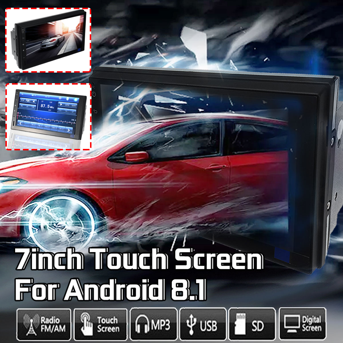 Android 8.1 Quad Core 4K 7 2 Din Car MP5 Player bluetooth WIFI GPS DVBT DAB Touchable Screen Car Radio Car Multimedia PlayerAndroid 8.1 Quad Core 4K 7 2 Din Car MP5 Player bluetooth WIFI GPS DVBT DAB Touchable Screen Car Radio Car Multimedia Player