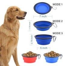 Składana silikonowa miska dla psa 350 ml