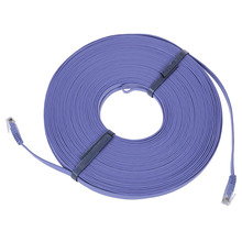 98FT 30M CAT6 CAT 6 Flat UTP Ethernet Network Cable RJ45 Patch LAN Cord Blue