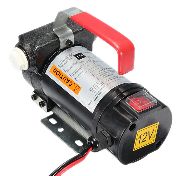 12V 40L/min Car Electric Fuel Oil Pump Small On Board Automatic Fuel Transfer DC Electric D Iesel Pump With Splicer And Filter