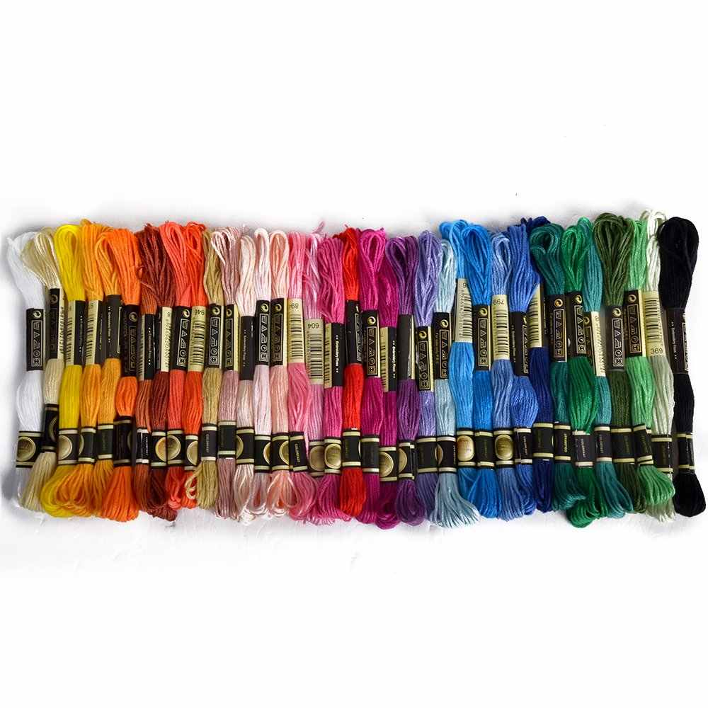 36 skeins of thread Multicolored For Embroidery Cross needle Knitting Bracelets