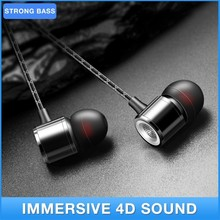 Strong Bass Sound Earphone In-Ear Sports Earphones with Microphone For Xiaomi Samsung Headset 3.5mm Stereo Smartphone Earbuds panasonic rp tcm50e k in ear headphones microphone and remote control compatible with smartphone clear bass sound custom design