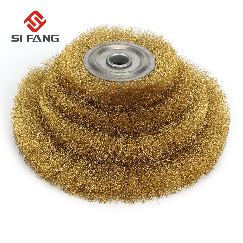 100-250mm Flat Steel Wire Wheel Brush  Metal Derusting Wood Grinding Polishing Tools Flat Wire Brush