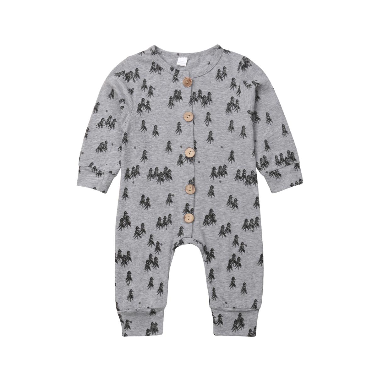 pudcoco Pine Trees Baby Kids Boys Girls Infant   Romper   Jumpsuit Clothes baby girl boy 100% Cotton   romper   baby girl boy