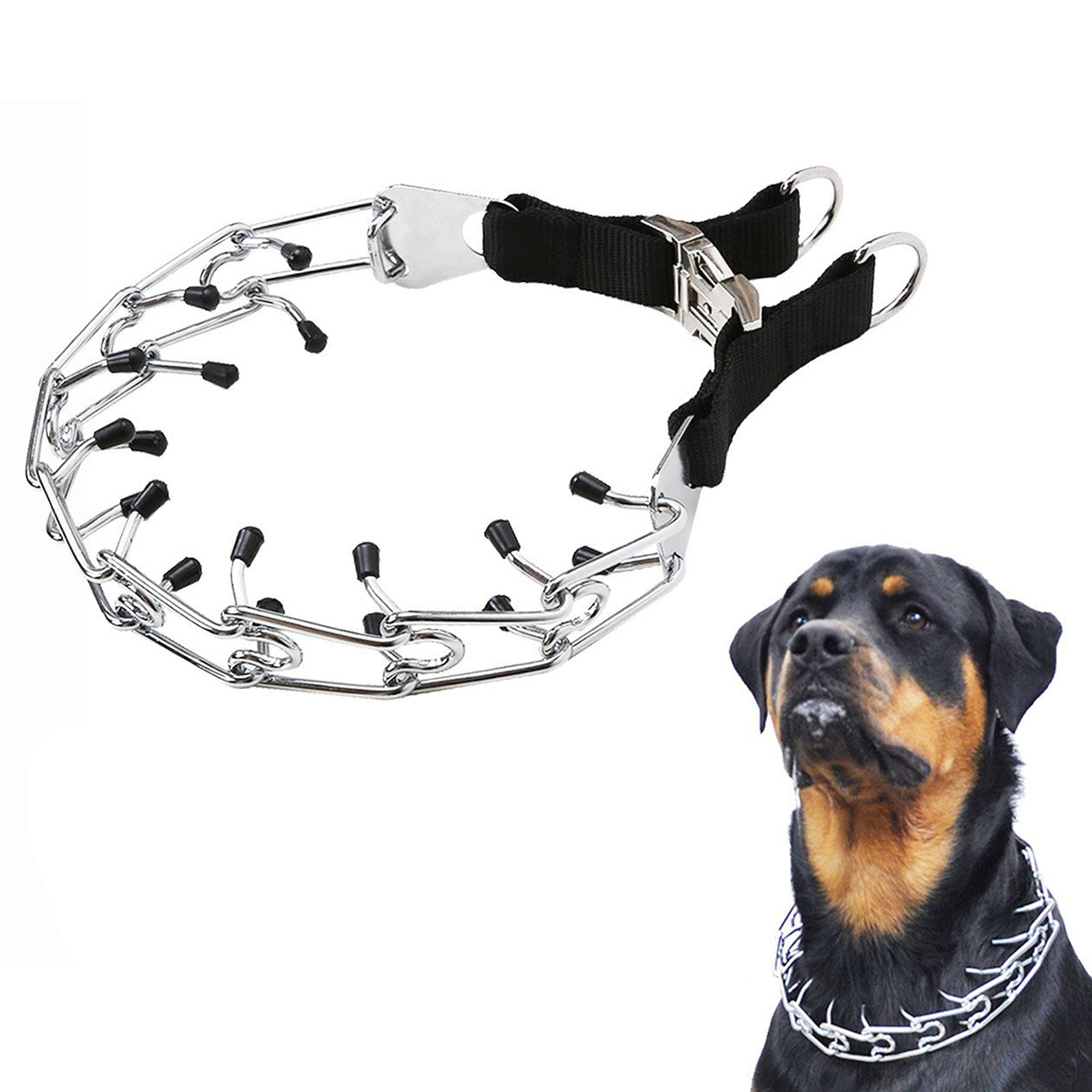 "4.0 mm x 62/"" Dog Leash Mesh Metal Chain Leads Large Training Lead to dog Collar"