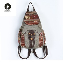 2019 New Women Printing Backpack Canvas School Bags For Teenagers Shoulder Bag Travel Rucksack Bolsas Mochilas Femininas