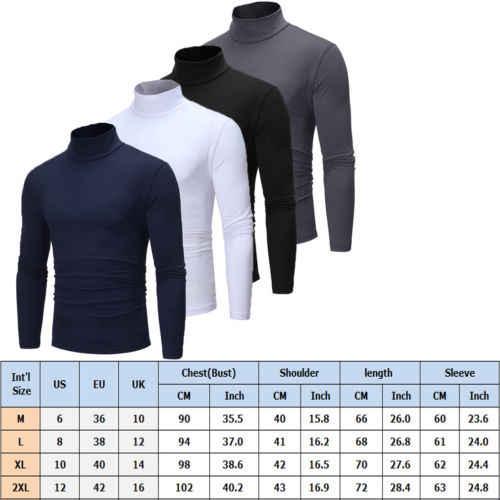 Camiseta de alta qualidade do pescoço da tartaruga do algodão do outono do inverno