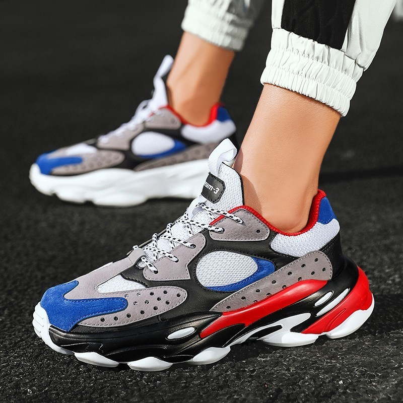 Mens Shoes Fashion Sneakers Comfortable Casual Shoes Adulto Male Popular Colorblock Canvas Shoes Cool Chaussure Homme Leisure