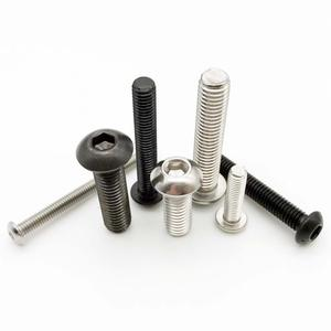 10/50pcs M2 M2.5 M3 M4 M5 M6 304 A2-70 Stainless Steel Black grade 10.9 ISO7380 Hexagon Hex Socket Head Button Allen Bolt Screw(China)