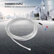Thermocouple PTFE K Type 2 fil étanche résistance à la Corrosion Thermocouple fil 3 mètres