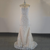 Длинное вечернее платье цвета слоновой кости Аппликация из бисера Вечернее Бальное Платье в виде русалки блестящее свадебное платье Vestido