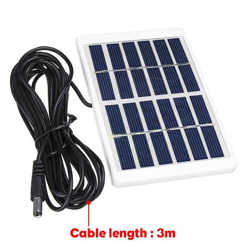 Panel Solar portátil de 5W 6V Panel de carga Solar al aire libre 3 metros de Cable de escalada cargador rápido de polisilicio Tablet Solar generador