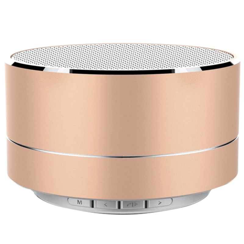 A10 Subwoofer Bluetooth Speaker Metal Mini Portable Wireless Soundbox Light Hifi Heavy Bass Music Play Support FM Radio