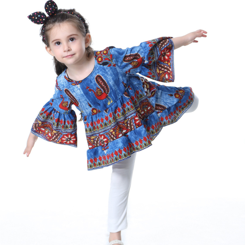 Kids girls dress new spring 2019 cotton printed children 39 s clothing in Dresses from Mother amp Kids