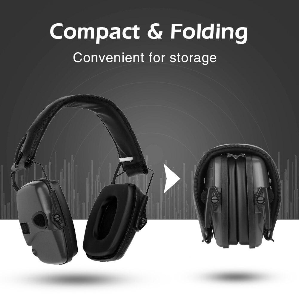 Sport Sound Amplification Electronic Shooting Earmuff Shooting Noise-proof Hunting Earmuff Earphone Accessories
