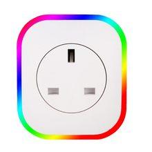 купить New Smart Plug Rgb Led Light Wifi Outlet Socket Eu Remote Control Plug For Google Home Mini Alexa Smart Timing Switch Work по цене 885.78 рублей