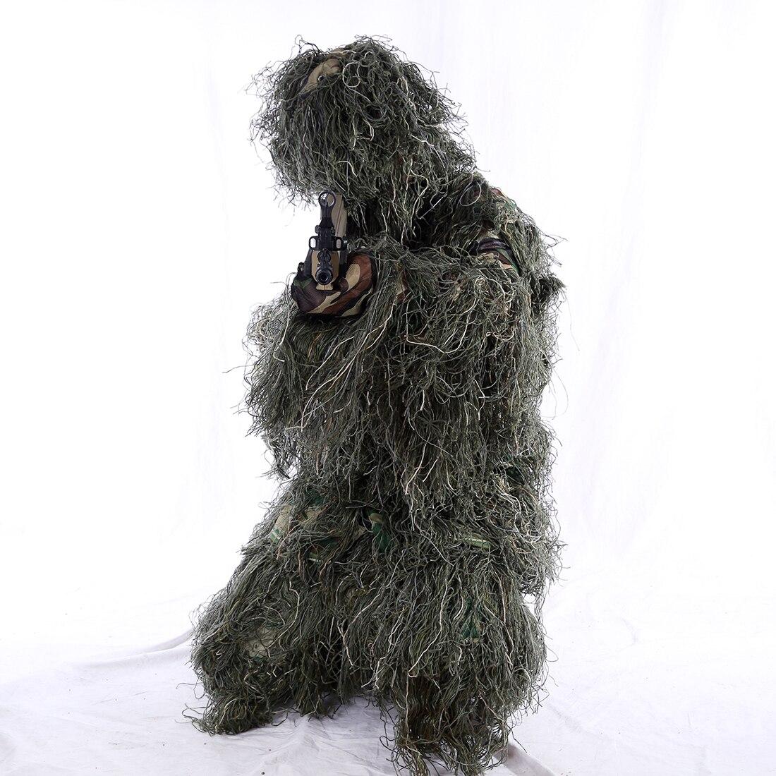 2019 vêtements de chasse costume Camouflage Ghillie costume en plein air chasse forêt vêtements pour Wargame Airsoft veste tactique et pantalon