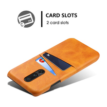 TORUBIA For Oneplus 7 Pro Case Vintage Calf Grain PU Leather Slim Anti-Scratch Hard PC Cover For One plus 7 Pro Case Card Holder