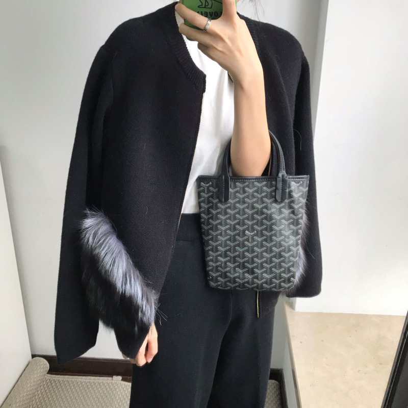 Pullover 2019 Neue Lanmrem Stlyes Reißverschlüsse Taschen Pelz Patchwork Verstärktes Stricken Batwing ärmeln Cardigan Öffnen Stich Lose Wc88302