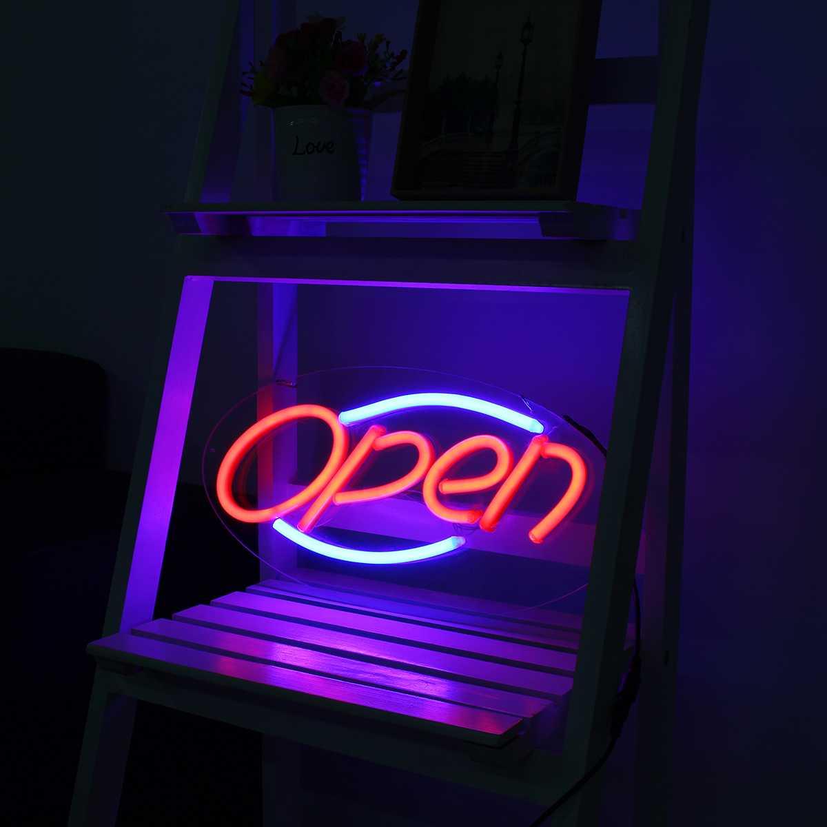 Néon enseigne lumière Bar ouvert Pub Club Studio mur affichage LED Tube nuit lampe néon Tubes conseil décoration visuelle œuvre éclairage - 3