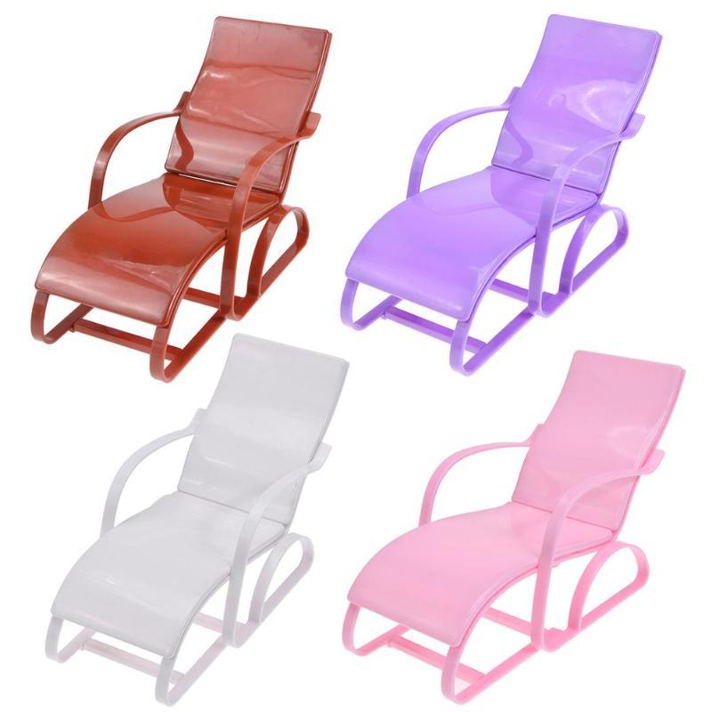 1:6 Scale Dollhouse Furniture Beach Lounge Chair For Barbie Doll Dream House Gardan Beach Chair Doll Accessories