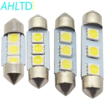 цена на 1X White C5W C10W 5050 3SMD 3Led 36mm 39mm 41mm DC 12V Car LED Festoon Dome Light Door light Reading Lamp Tail Bulb backup Led