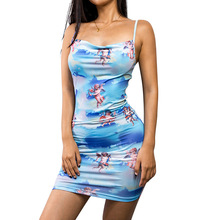 Essayer Tout 2019 de mode serré sexy robe femmes imprimer robes d été  casual spaghetti e6f433c273ba