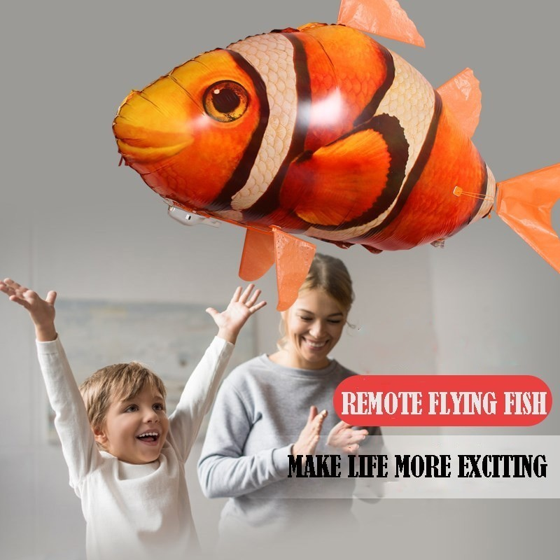 RC Flying Shark Toy Clown Fish Radio Air Swimmer Balloons Inflatable Helium Fish plane RC Helicopter Robot Gift For KidsRC Flying Shark Toy Clown Fish Radio Air Swimmer Balloons Inflatable Helium Fish plane RC Helicopter Robot Gift For Kids