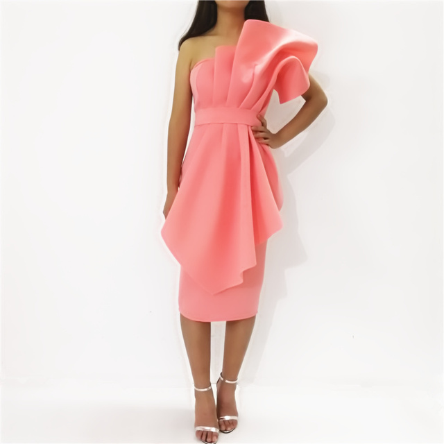 Women Tube Top Dress Bodycon Off Shoulder Backless Evening Party Sexy Dinner Clubwear Lady Slim Tunic Elegant Tight Summer Robes