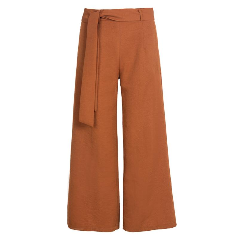 Mid Rise   Wide     Leg     Pants   Women Casual Fashion Loose   Pant   Trouser Vintage   Pants   Female Solid Black Brown Casual   Pant