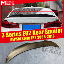 E92 Spoiler stem Wing AEPSM style FRP Primer black For BMW 3 Series 323i 325i 328i 335i rear diffuser 2006-2013