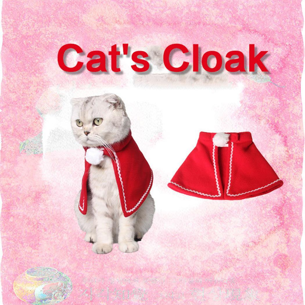 Home & Garden Bright Red Cute Pet Cat Clothing Christmas Party Puppy Cat Clothes Costumes Lovely Cloaks Mantle With Buckhorn Set Suit For Cats With A Long Standing Reputation Cat Clothing