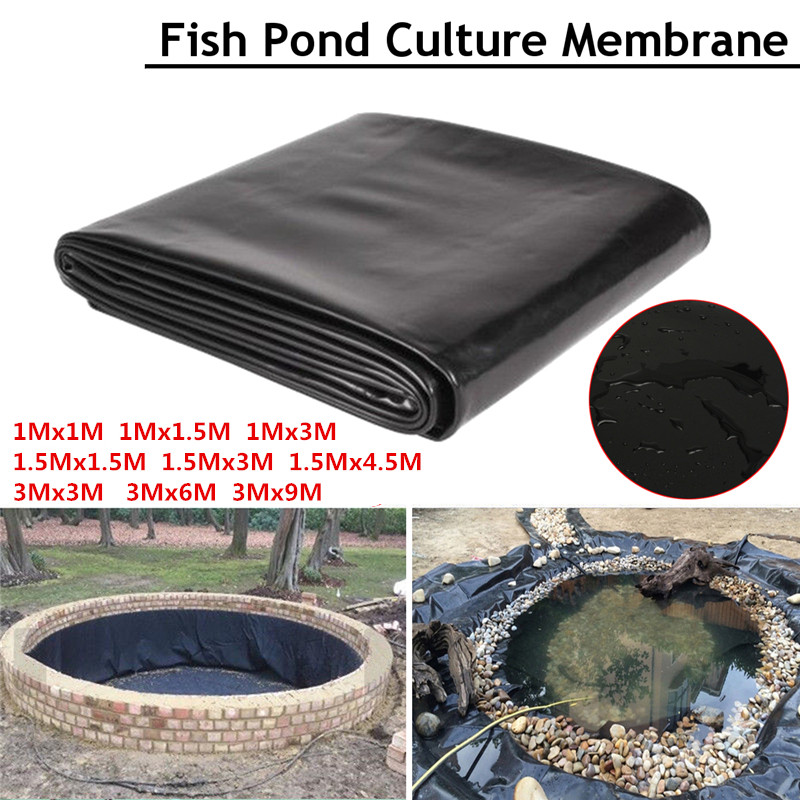 9Sizes HDPE Fish Pond Liner Garden Pools Reinforced HDPE Heavy Landscaping Pool Pond Waterproof Liner Cloth