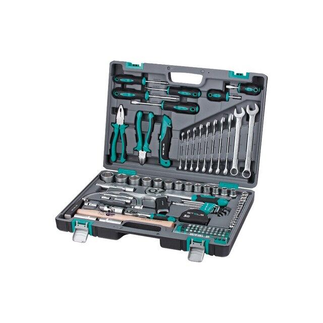 Набор ручного инструмента STELS 14111 (98 предметов из Высококачественной стали, кейс в комплекте)