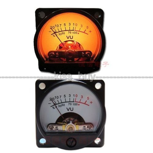 1 x Panel VU Meter Warm Back Light Power Amplifier Indicator & Audio Level Amp DB Table dc 6v 12v FOR Driver board